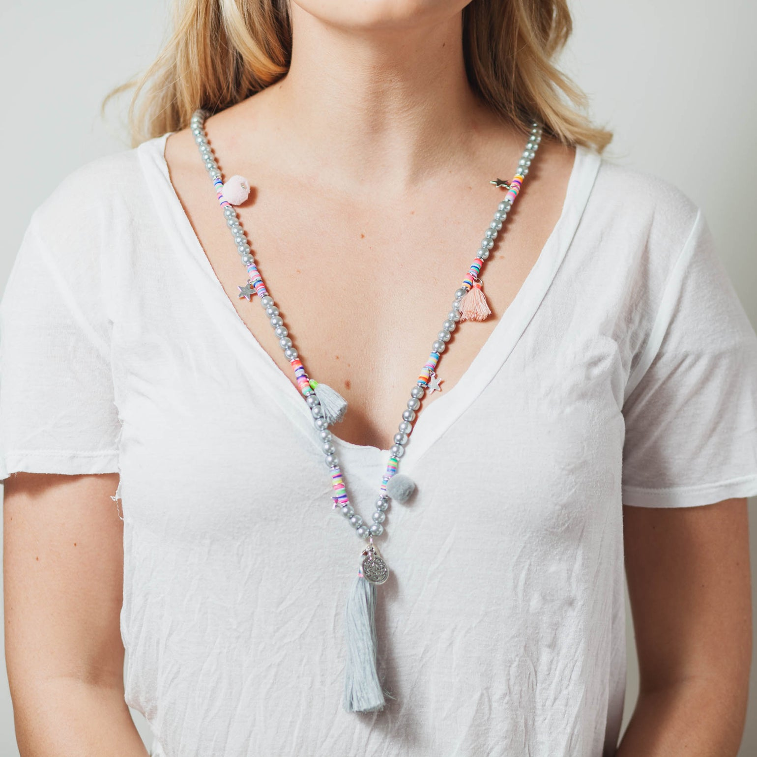 Image of GREY MALA NECKLACE