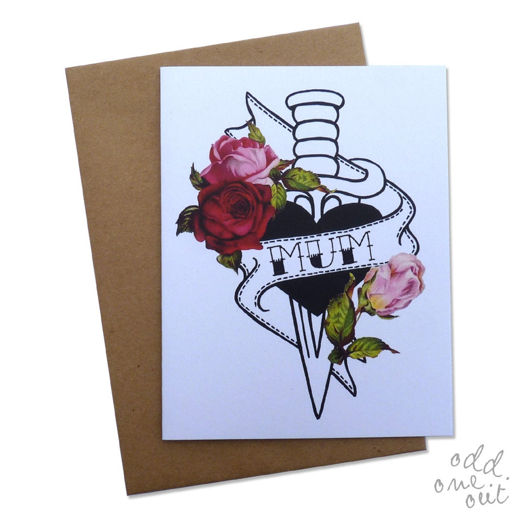 Image of Mum - Hand lettered Mothers Day Card