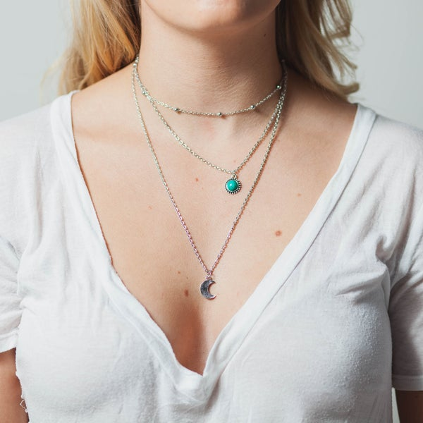 Image of TURQUOISE LUNA NECKLACE