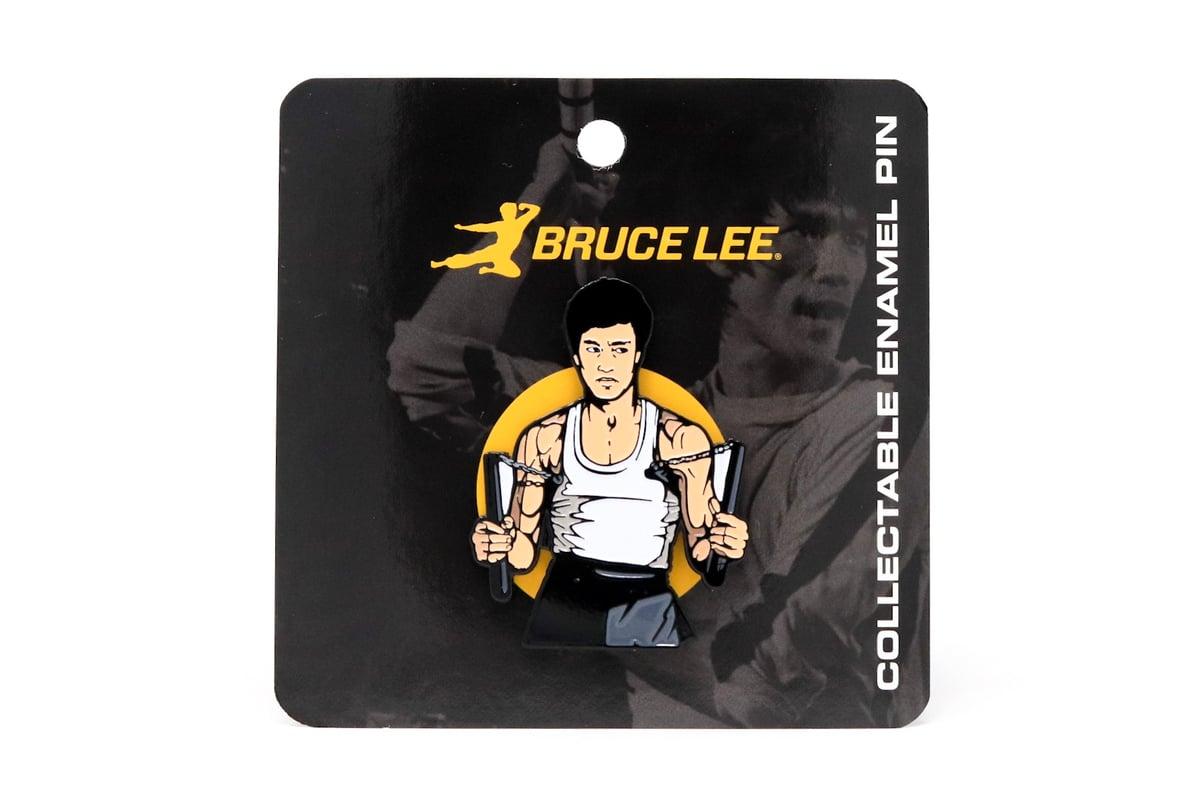 Image of Bruce Lee - Nunchucks Enamel Pin