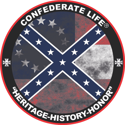 "Image of 2 - 3"" Round Confederate Flag, Confederate Life Sticker"