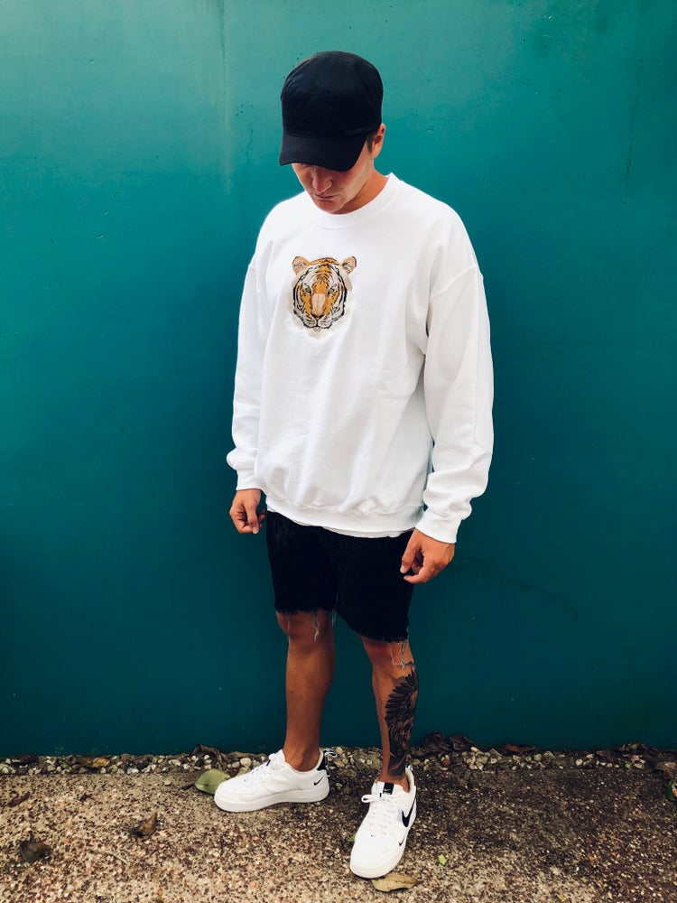 Image of Embroidered Tiger Crew Jumper