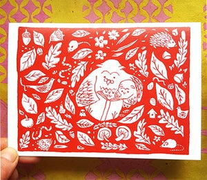 Image of Owls Greeting Card