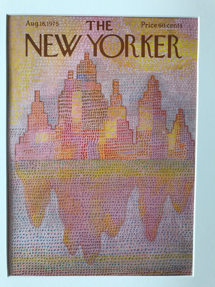 Image of Original The New Yorker Cover August 1975 illustrated by Eugene Mihaesco