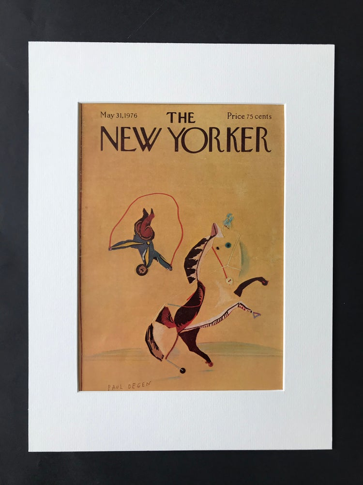 Image of Original New Yorker Cover May 1976 illustrated by Paul Degan