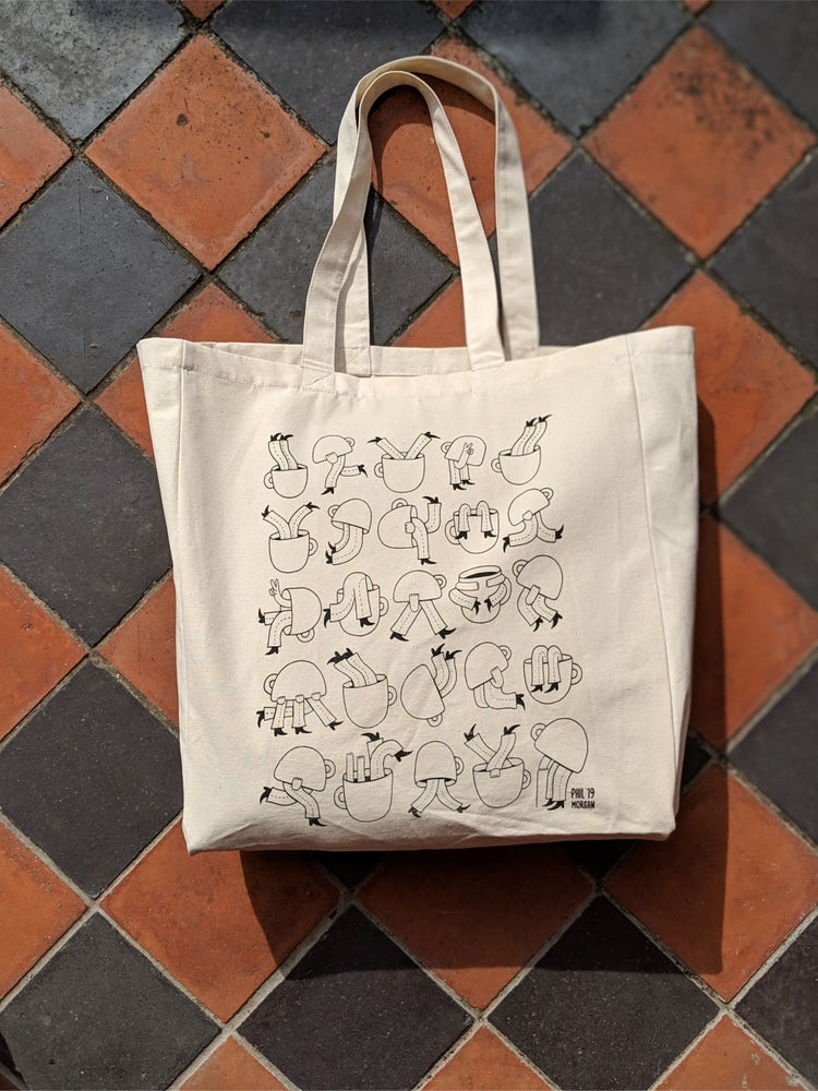Image of ' Coffee Cups ' Canvas Tote Bag