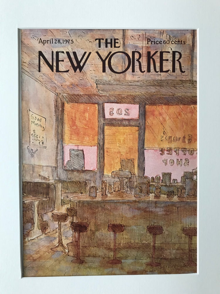 Image of Original The New Yorker Cover April 1975 illustrated by James Stevenson