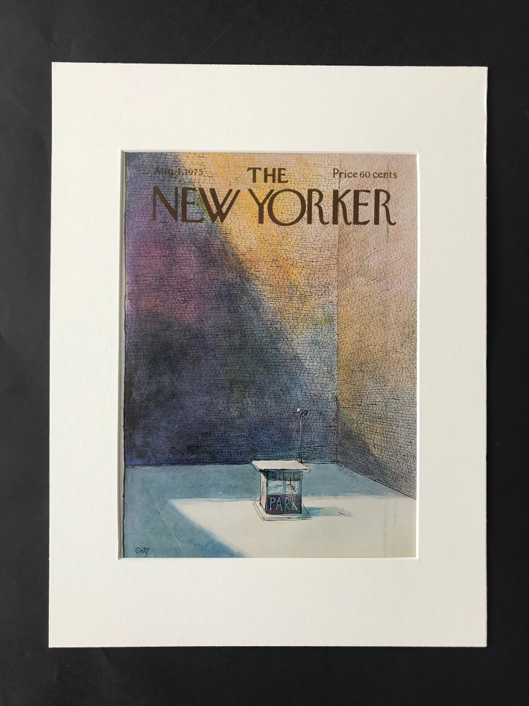 Image of Original The New Yorker Cover August 1975 illustrated by Stan Getz