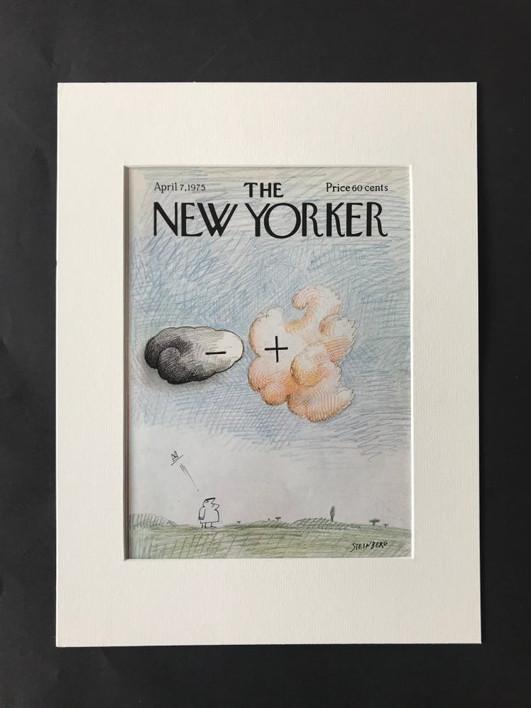 Image of Original The New Yorker Cover April 1975 illustrated by Saul Steinberg