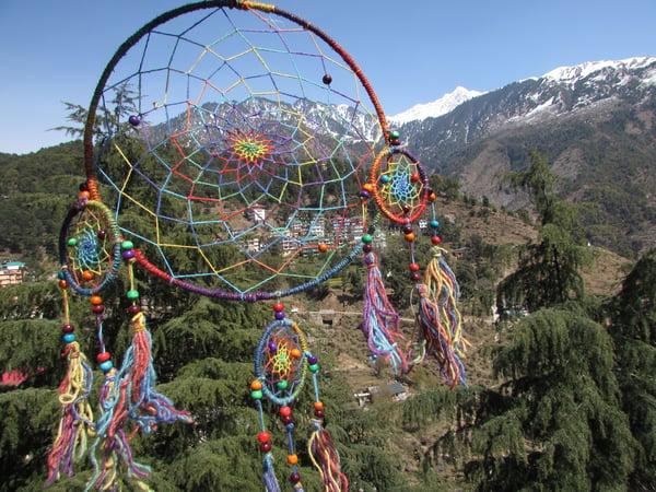Image of Himalayan Hemp Dream Catcher Large | Cruelty Free | 100% Vegan | Eco Friendly | Handmade