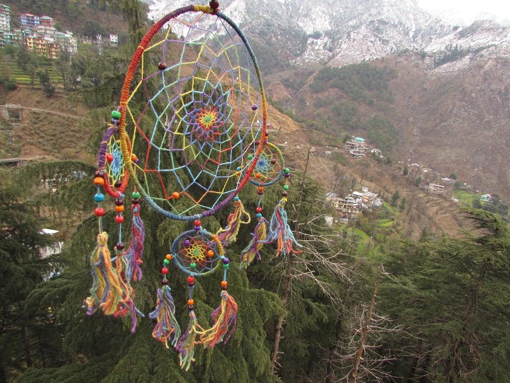 Himalayan Hemp Dream Catcher Large | Cruelty Free | 100% Vegan | Eco Friendly | Handmade