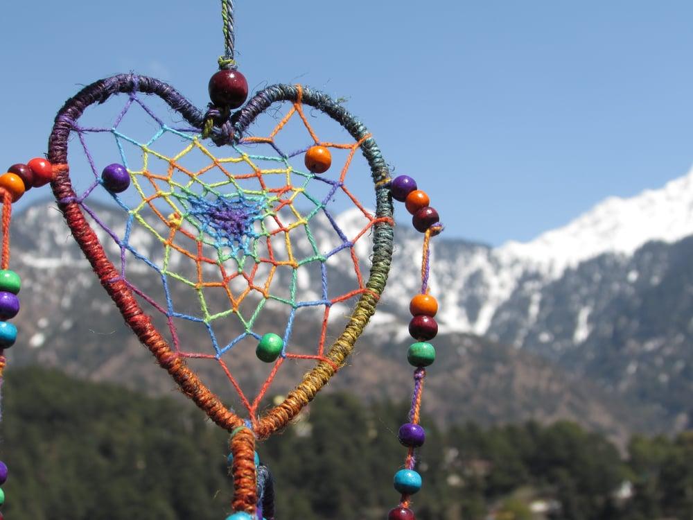 Himalayan Hemp Dream Catcher Triple Heart | Cruelty Free | 100% Vegan | Eco Friendly | Handmade