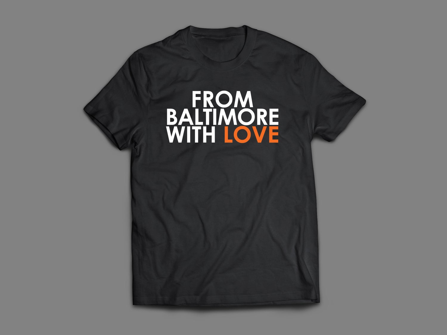 "Image of From Baltimore With Love ""Let's Go O's"" SS Tee - BLACK/ORANGE"
