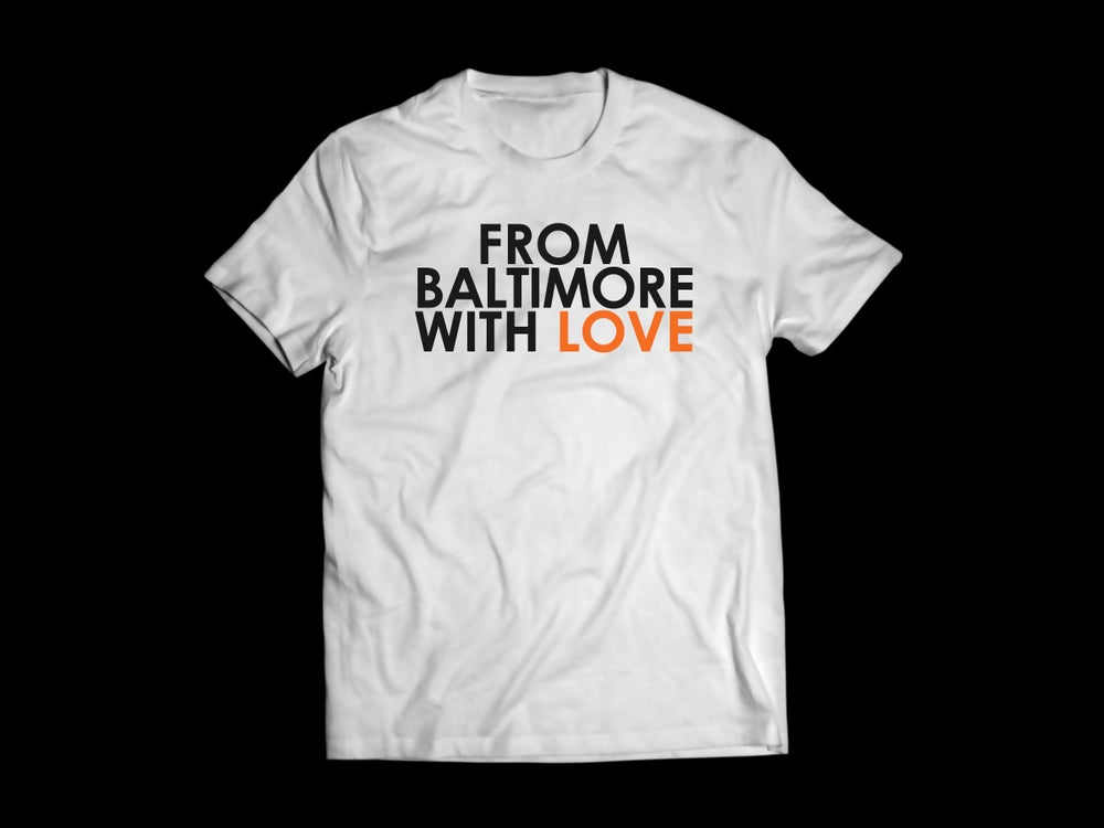 "Image of From Baltimore With Love ""Let's Go O's"" SS Tee - WHITE/ORANGE"