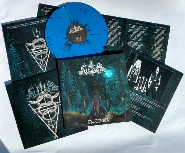 "Image of AUTOMB ""Esoterica"" 12"" LP - BLUE/BLACK SPLATTER version"