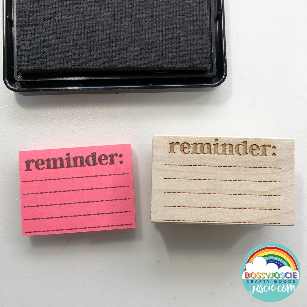 Image of Mini post-it note reminder stamp