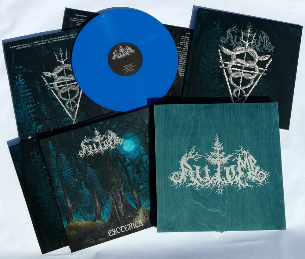"""Image of AUTOMB """"Esoterica"""" 12"""" LP - WOODEN BOX - BLUE version"""