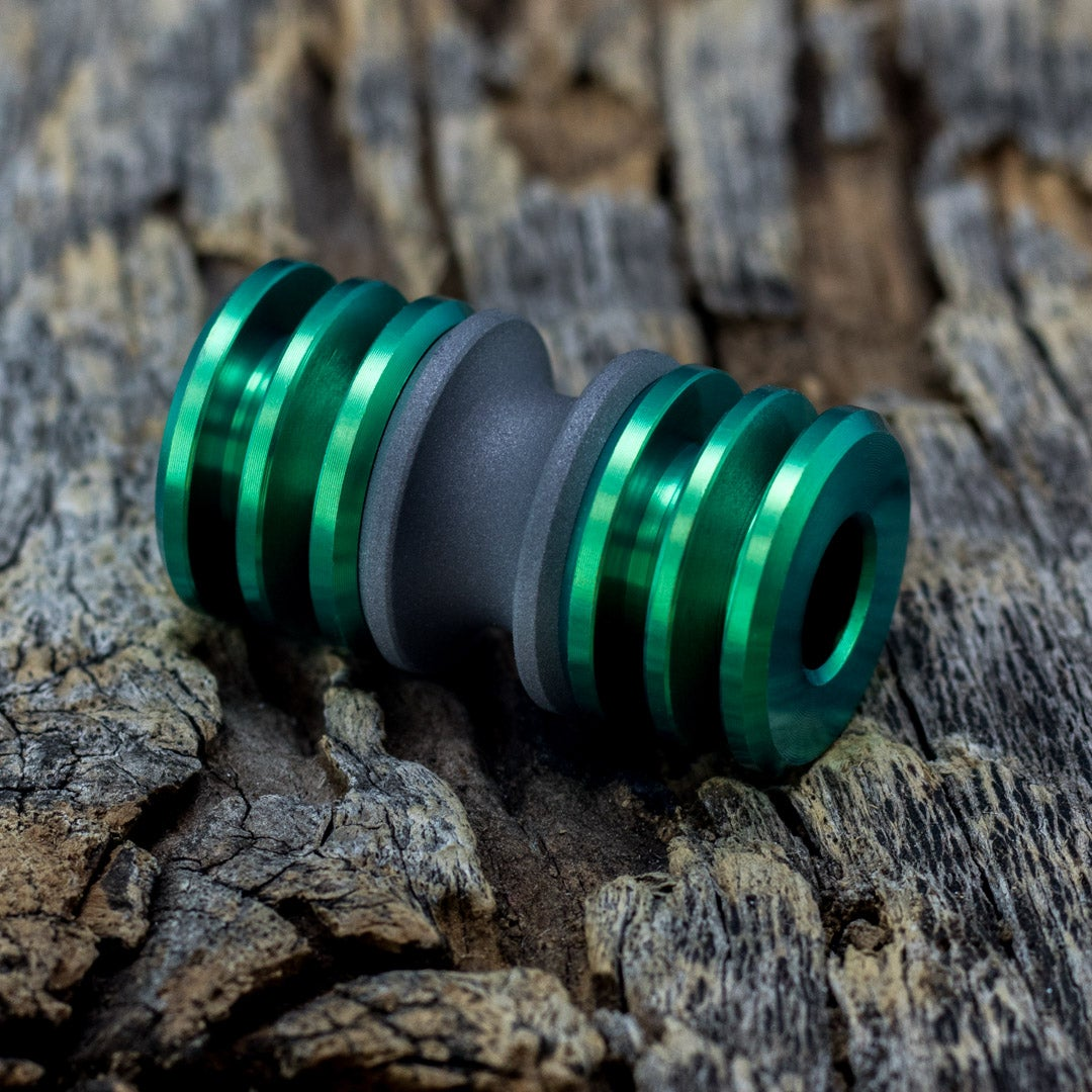 Image of Blasted & Toxic Green Triple Bead Set #1