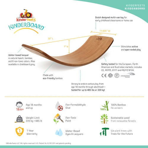 Image of The Original Kinderboard Bamboo®. IN STOCK JULY 10TH!