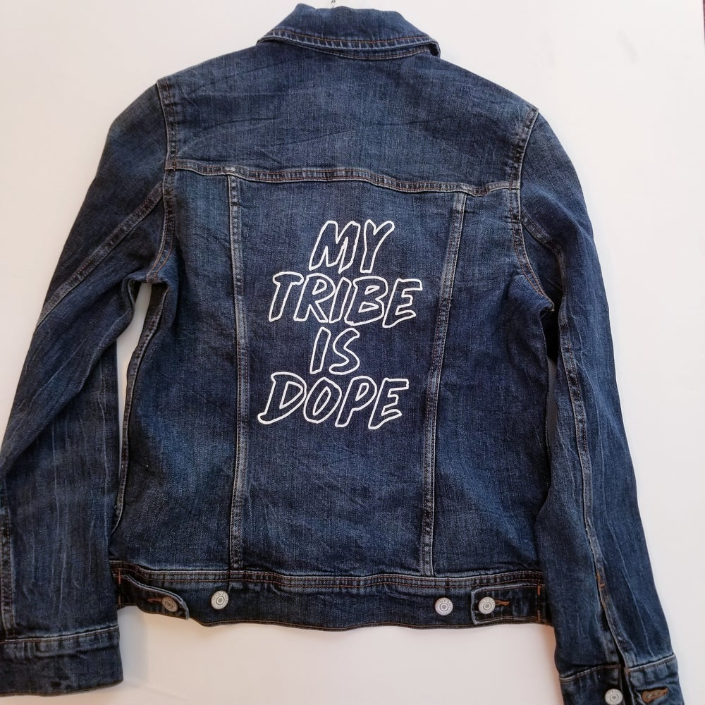 Image of My Tribe Is Dope Unisex Denim Jacket
