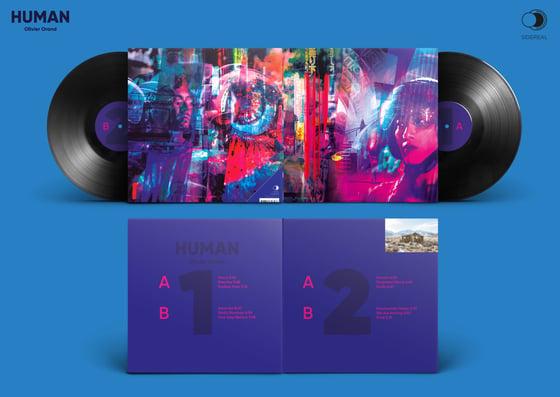 Image of Olivier Orand 'Human' 2LP black vinyl