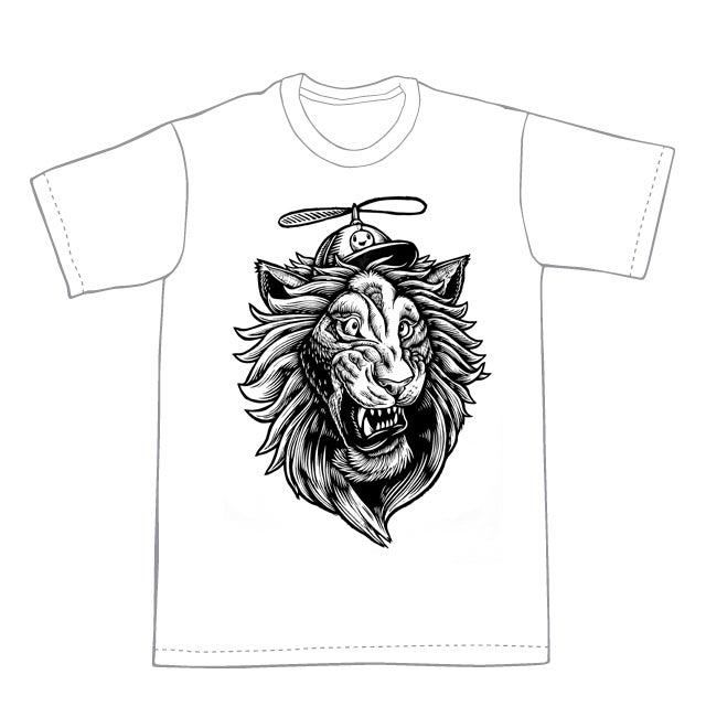 Helicopter Lion T-shirt (B1) **FREE SHIPPING**