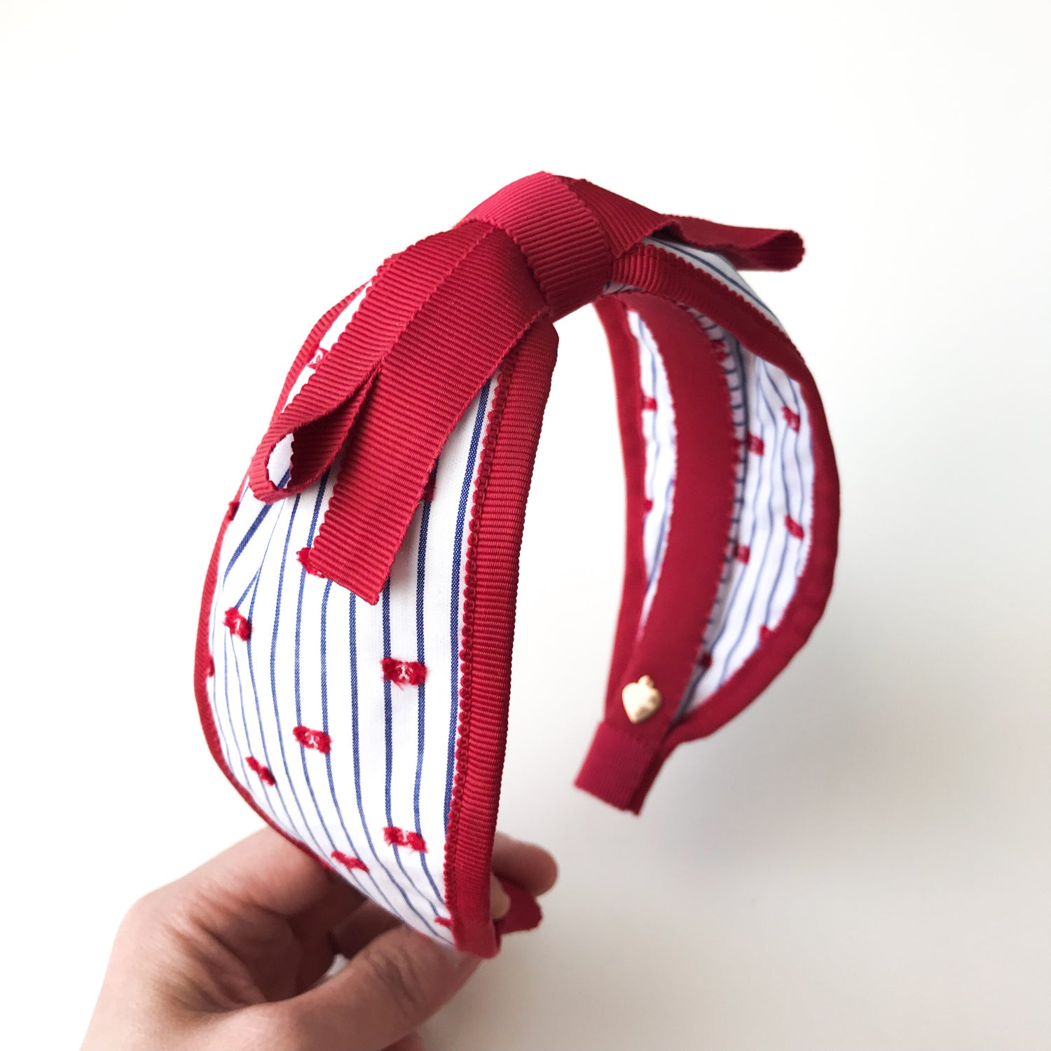 Image of RED TRIM WIDE HEADBAND