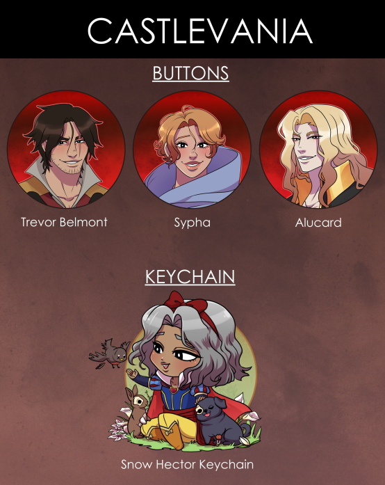 Image of Castlevania Buttons & Keychains