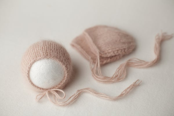 Image of Angora Bonnet - blush