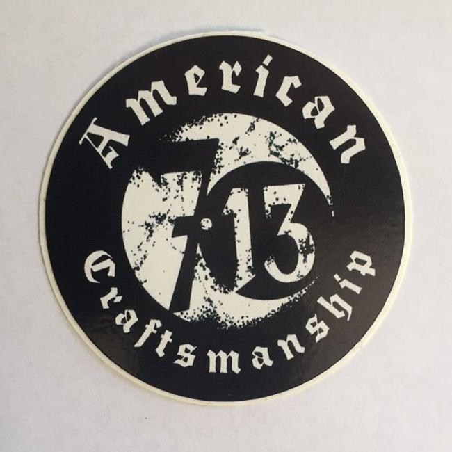 Image of Seven 13 American Craftsmanship Logo Sticker