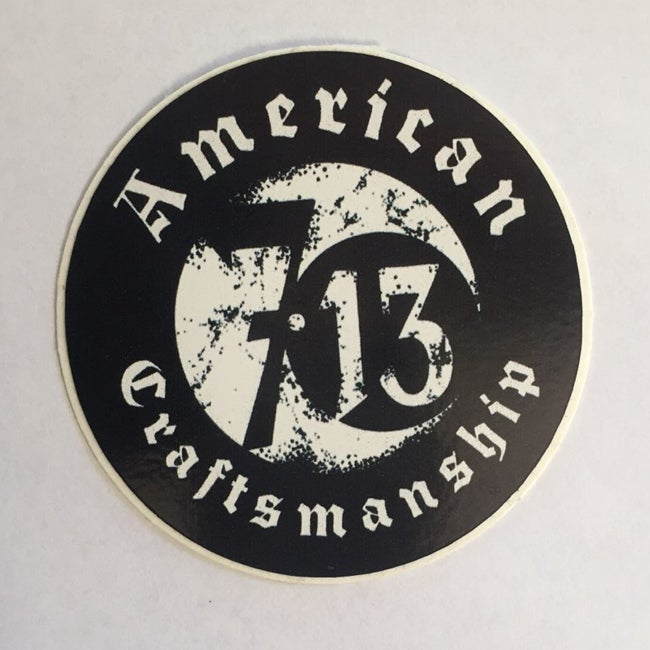 Image of Seven 13 American Craftsmanship Logo Sticker