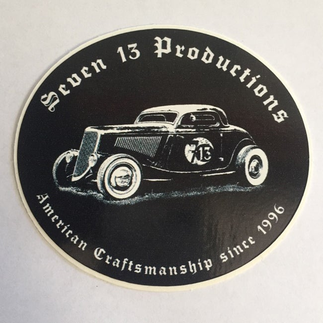 Image of Seven 13 Productions Three Window Coupe Sticker