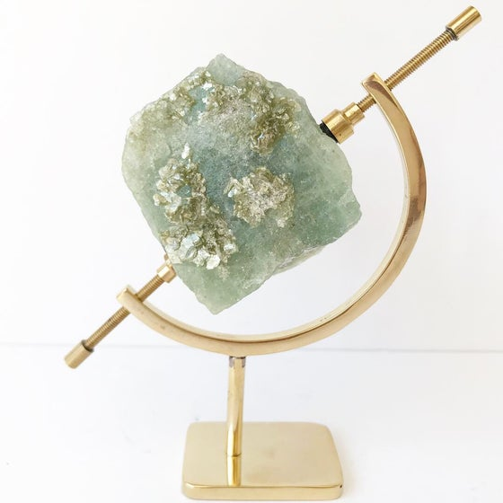 Image of Aquamarine no.2 + Brass Arc Pairing