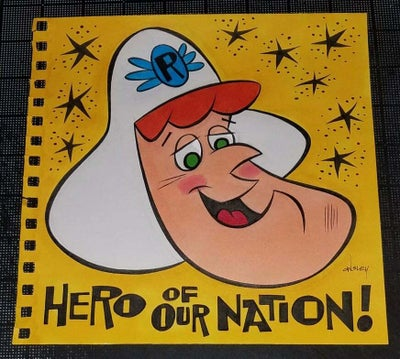 Image of ROGER RAMJET 8x8 SKETCHBOOK ORIGINAL ART! HERO OF OUR NATION!