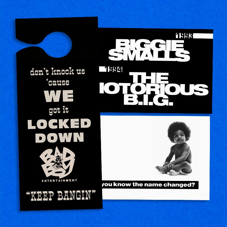 "Image of Bad Boy/Biggie Promotional Door Hanger + 4x6"" Postcard"