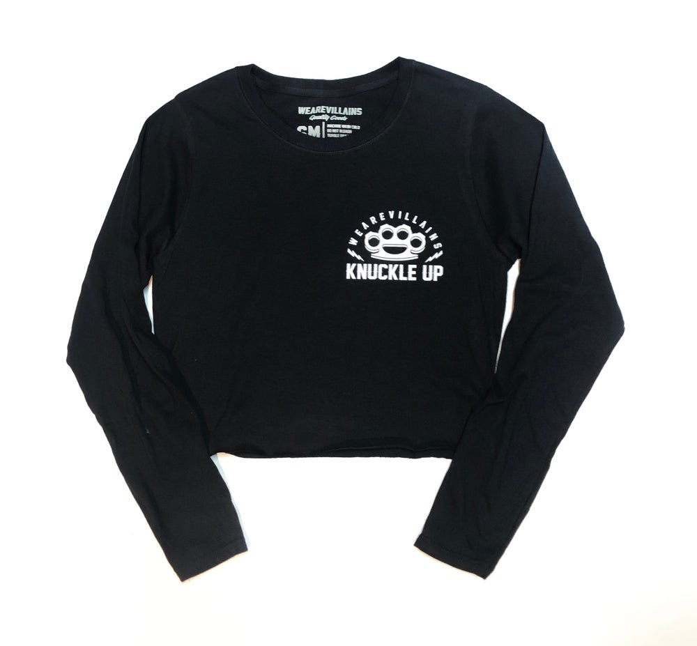 Image of Knuckle up women's crop long sleeve