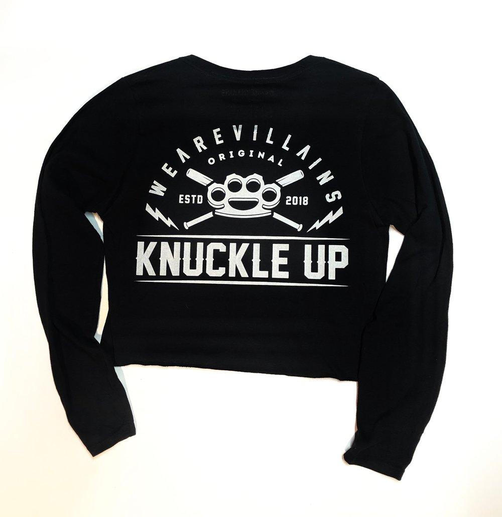 Knuckle up women's crop long sleeve