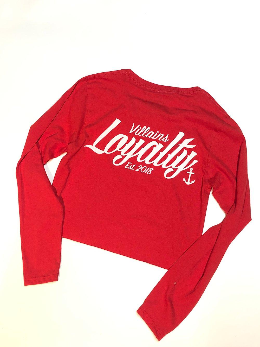 Loyalty women's crop long sleeve