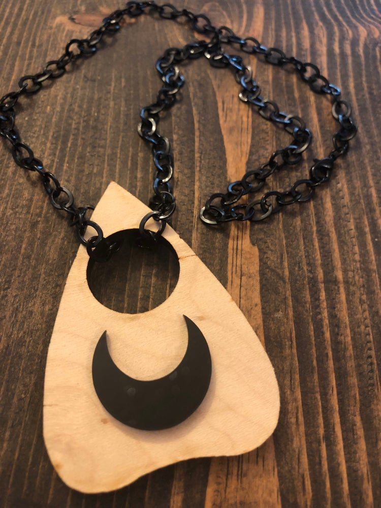 Image of Planchette moon necklace