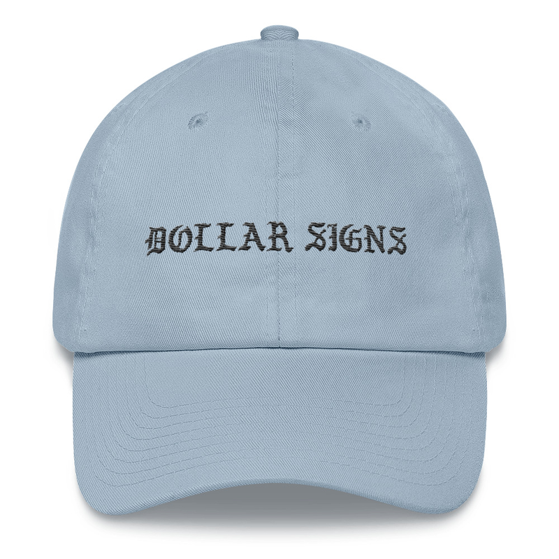 Image of DOLLAR SIGNS DAD HAT (BABY BLUE)