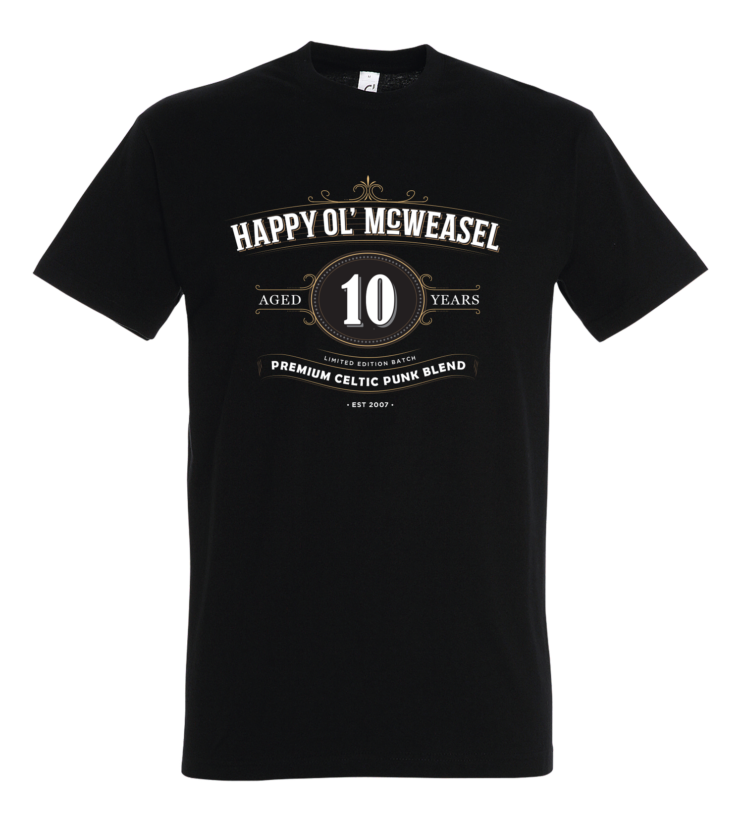 Image of 10 YEARS ANNIVERSARY, T-shirt, Black
