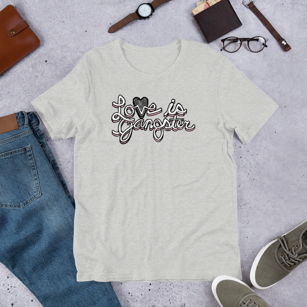 Image of LOVE is Gangster grey tee