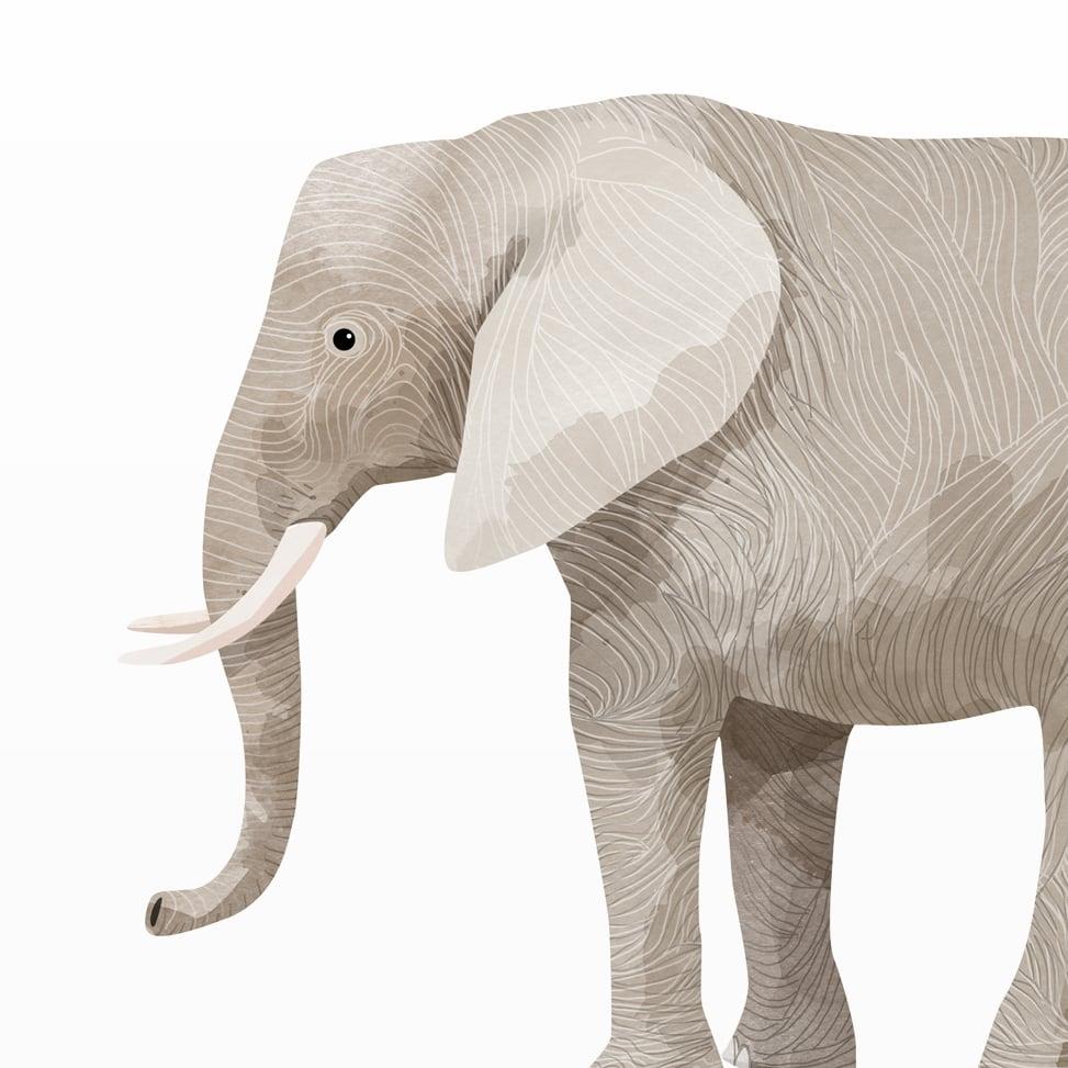 Image of Print: Elephant