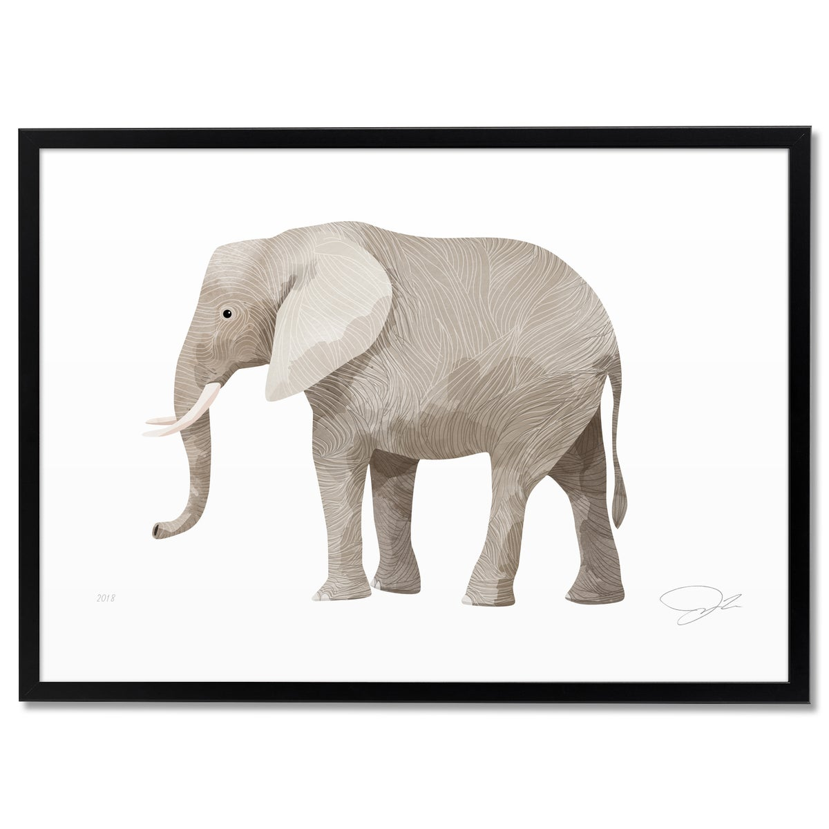Image of Print: Elephant