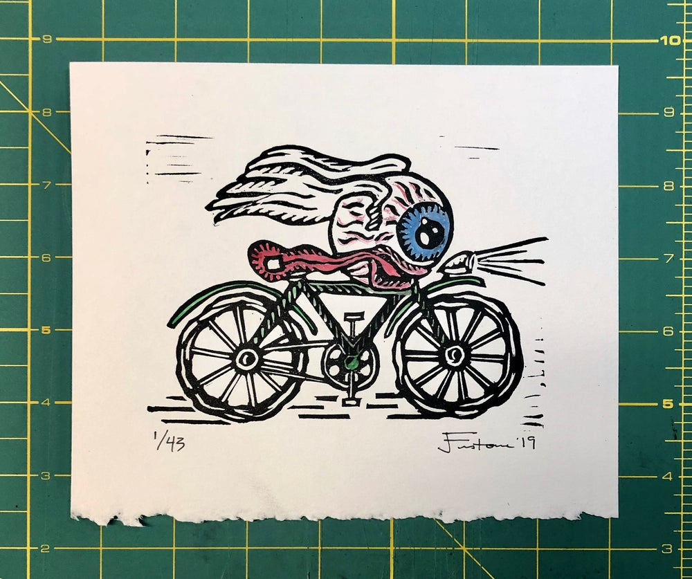 Image of Bicycle Day mini print