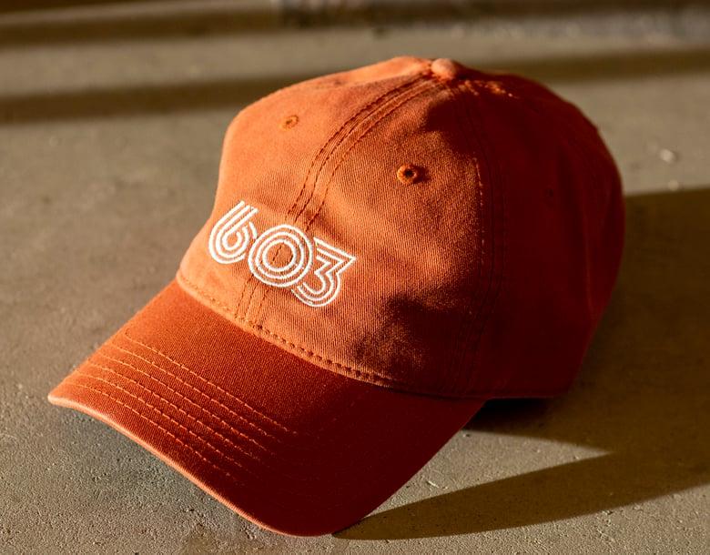 Image of Retro 603 Dad Hat - orange