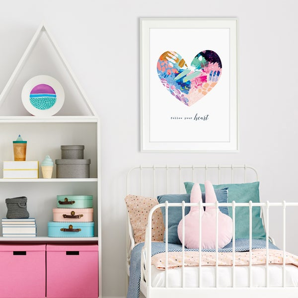 Image of Abstract Heart - Art Print