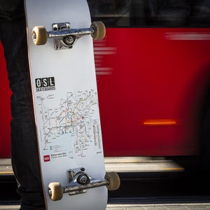 Image of OSL Skateboards. Oslo Bus-map, 8""