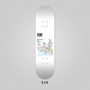 Image of OSL Skateboards. Oslo Tram-map, 8.25""