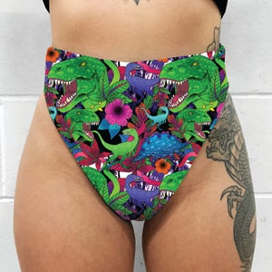 Image of Hoodlum Fang High Leg High Waisted Thong (choice of fabrics)